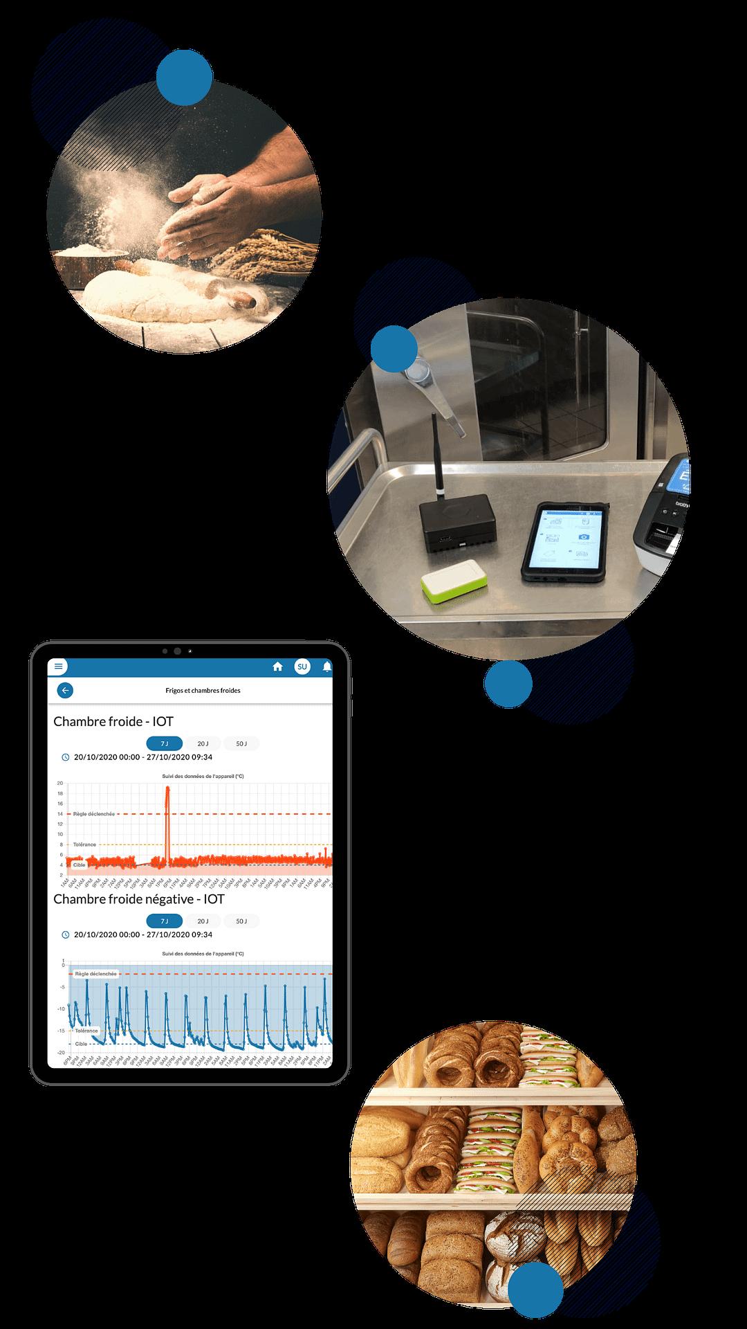 Capteurs & tablette EEat en boulangerie