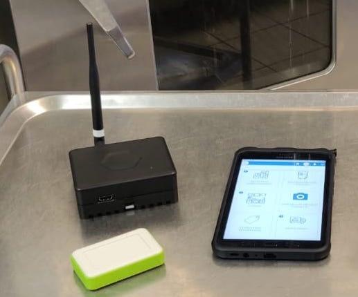 EEatbox, capteur de température et tablette