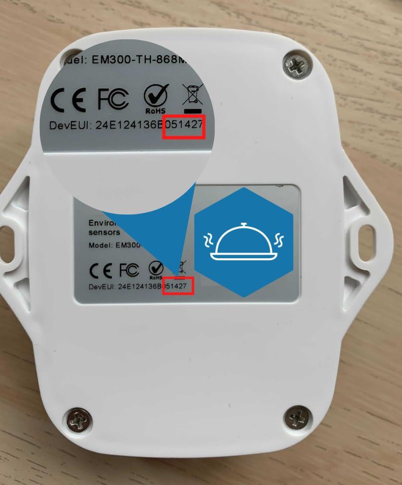 Capteur de température vue de dos